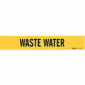 Pipe Markr, Waste Water, Y, 2-1/2to7-7/8 In
