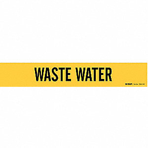 Pipe Marker,Waste Water,Y,8 In orGreater