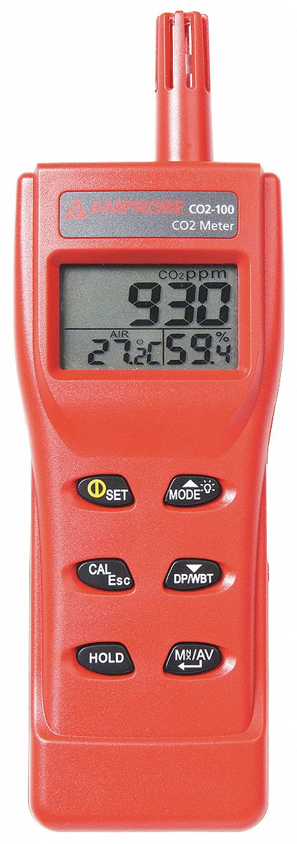 Hand-Held Carbon Dioxide Meter, 9999 PPM