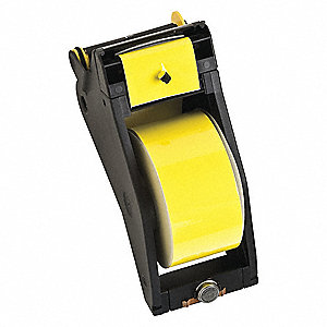"Black/Yellow Vinyl Film Label Tape Cartridge, Indoor/Outdoor Label Type, 90 ft. Length, 2-1/4"" Width"