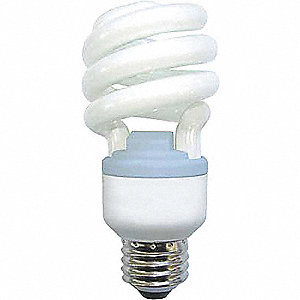 20 Watts Screw-In CFL, T2, Medium Screw (E26), 1100/1200 Lumens, 2500K Bulb Color Temp.