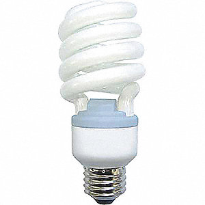 Screw-In CFL,Non-Dimmable,2500K,8000 hr.