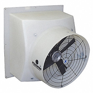 230/460V Direct Drive, Preassembled, Single Speed Agricultural Exhaust Fan, 1/2HP