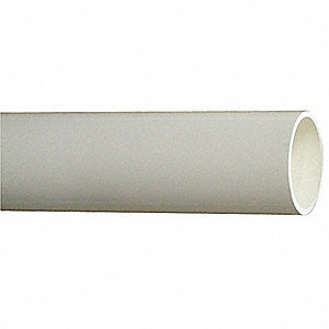 "2"" x 10 ft. PVC Pipe, Pipe Schedule 40, White"
