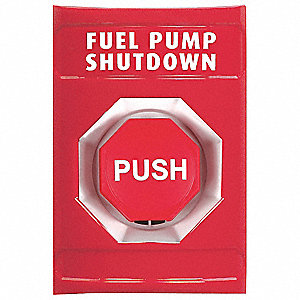 Fuel Pump Shutdown Push Button,Red,ADA