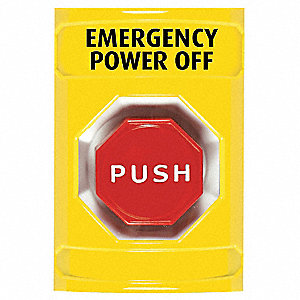 EMERGENCY POWER OFF PUSH BUTTON,YEL