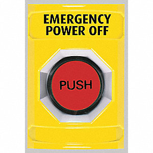 Safety Technology International Emergency Power Off Push