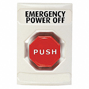 EMERGENCY POWER OFF PUSH BUTTON,WHI