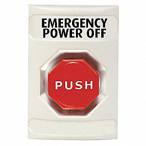 EMERGENCY POWER OFF BUTTON,TURN-TO-