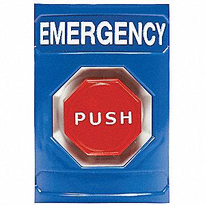 EMERGENCY PUSH BUTTON,KEY-TO-RESET