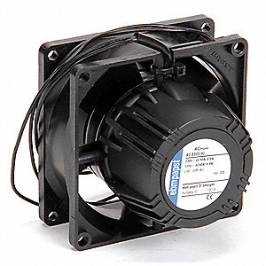 "Square Axial Fan, 3-3/16"" Width, 3-3/16"" Height, 1-1/"" Fan Dia., 115/230VAC Voltage"