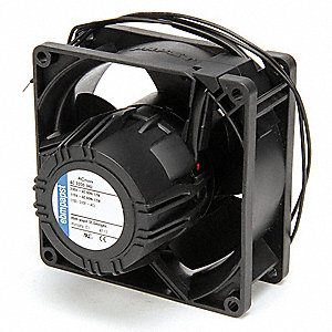 "Square Axial Fan, 3-5/8"" Width, 3-5/8"" Height, 1"" Fan Dia., 115/230VAC Voltage"