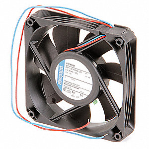"Square Axial Fan, 4-2/3"" Width, 4-2/3"" Height, 1-1/2"" Fan Dia., 24VDC Voltage"