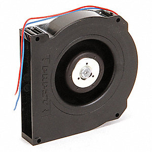 "Round Flatpack Axial Fan, 5"" Width, 5"" Height, 1"" Fan Dia., 12VDC Voltage"