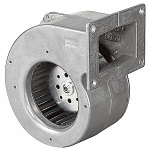 "Rectangular Electronically Commutated OEM Specialty Blower, Flange: Yes, Wheel Dia: 4-1/4"", 115VAC"