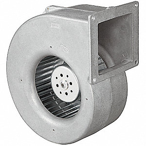 Rectangular OEM Blower With Flange, Voltage 115, 2430 RPM, Wheel Dia. 5-3/4""