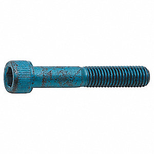 M8-1.25 x 45mm, Cylindrical, Socket Head Cap Screw, Alloy Steel, Steel, Metric Blue Finish, 25PK