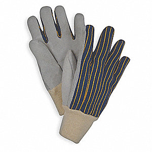 Leather Gloves,Blue/Gray,S,PR