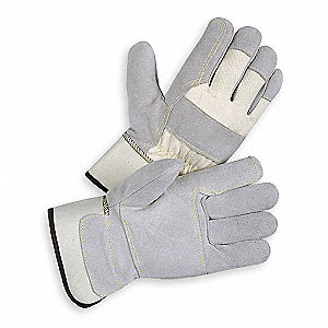 Leather Gloves,Split/Double Palm,S,PR