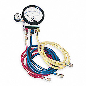Backflow Preventer Test Kit, 5 Valve, Includes: Analog Test Gauge, (3) Test Valves, (12) Hose Adapte