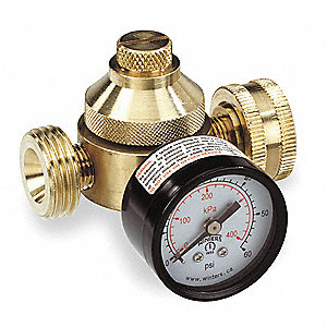 "H560 Series 3""L Brass Pressure Regulator, 0 to 60 psi"