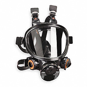 Bayonet Connection Full Face Respirator, 6 Point Suspension, M
