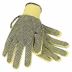 Cut Resistant Gloves, Cut Level 2, PVC Coating, Kevlar(R) Lining