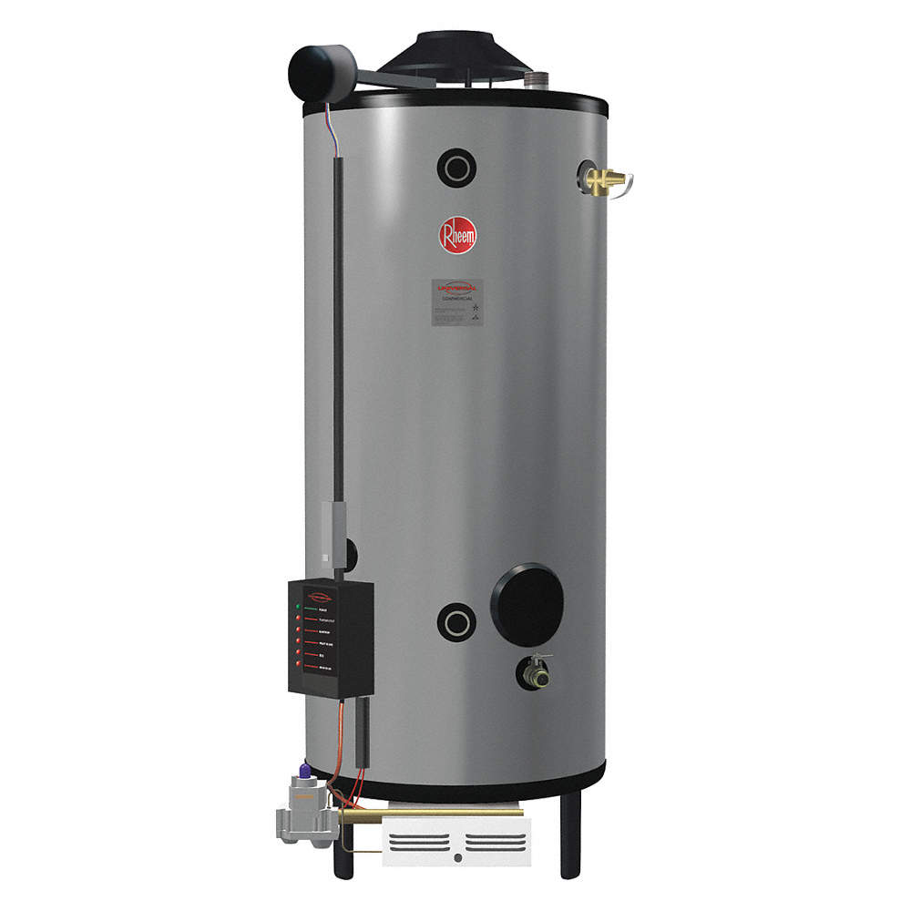 Commercial Gas Water Heater, 100.0 gal. Tank Capacity, Natural Gas, on rheem tankless water heater, rheem 30 gallon gas water heater, rheem water heater logo, rheem electric water heater mobile home, rheem marathon water heater,
