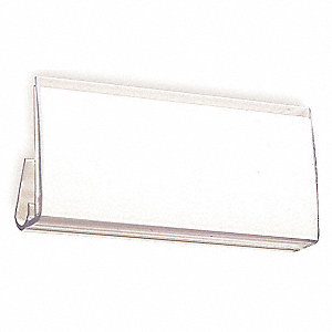"PVC Label Holder, Clear, 3""L x 1-1/2""W"