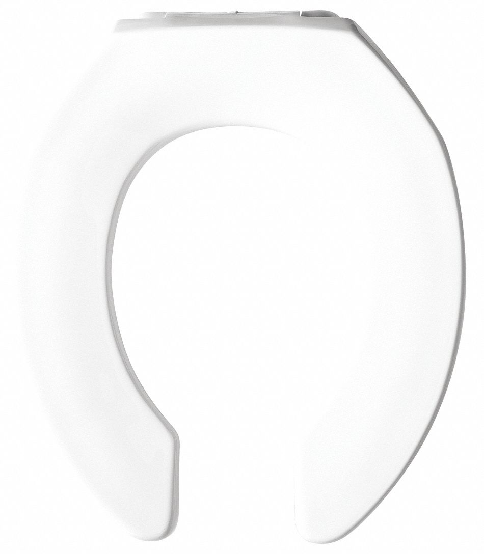 Elongated,  Standard Toilet Seat Type,  Open Front Type,  Includes Cover No,  White