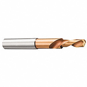 Solid Carbide Taper Length Drill Bit, 14.25mm, TiAlN