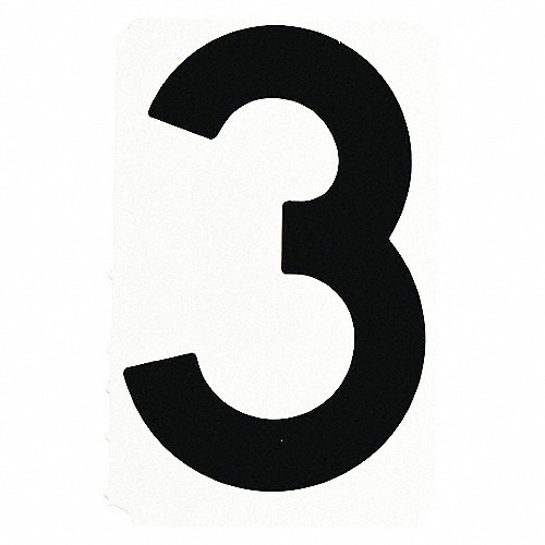 BRADY Etiqueta d/Número,Al4 pulg,Negro,PQ10 - Letras y ...