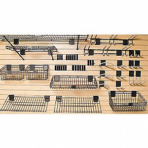 Deluxe Slat Wall Accessory Kit,46 Pieces