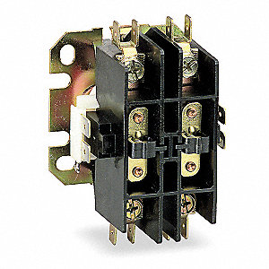 480VAC Open Definite Purpose Contactor, 20 Full Load Amps-Inductive, 2 Number of Poles
