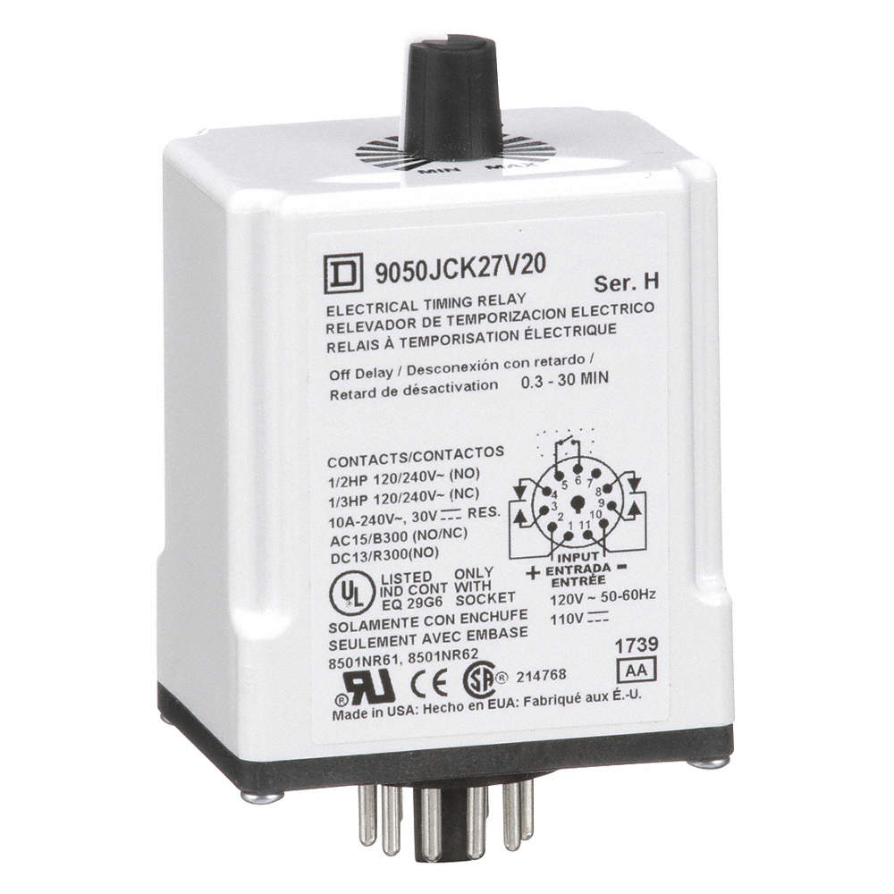 Square D Single Function Timing Relay 120vac 10a 120 240v 11 Power Off Timer Zoom Out Reset Put Photo At Full Then Double Click