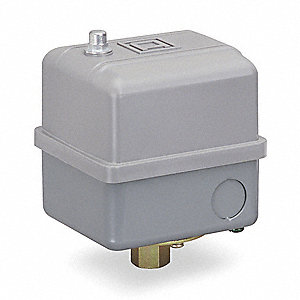 "Air Compressor and Water Pump Pressure Switch; Range: 40 to 200 psi, Port Type: (1) Port, 1/4"" FNPS"