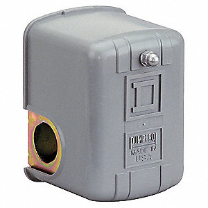 Air and Water Pressure Pressure Switch, Differential: 20 psi, Range: 20 to 100 psi