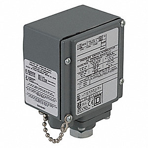 Diaphragm Pressure Switch, Differential: 16 to 90 psi, Range: 13 to 425 psi, NEMA Rating 4, 4X, 13