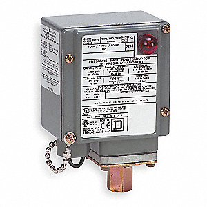 Diaphragm Pressure Switch, Differential: 10 to 49 psi, Range: 5 to 250 psi, NEMA Rating 1