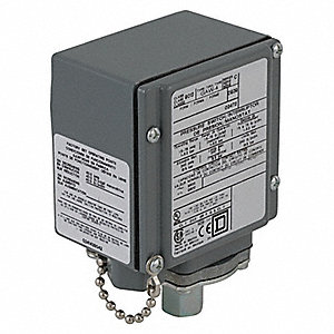 Diaphragm Pressure Switch, Differential: 3.5 to 15 psi, Range: 1.5 to 75 psi, NEMA Rating 1