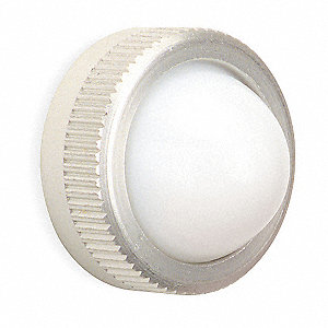 Pilot Light Lens,30mm,White,Glass