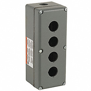 Pushbutton Enclosure, 1, 3, 4, 13 NEMA Rating, Number of Columns: 1
