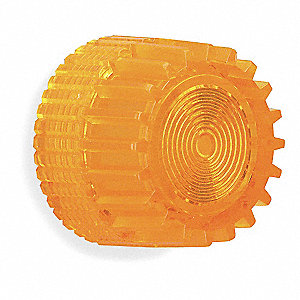 30mm Plastic Push Button Cap, Illuminated, Amber