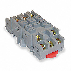 Relay Socket, Socket Type: Standard, Socket Style: Square, Number of Pins: 11