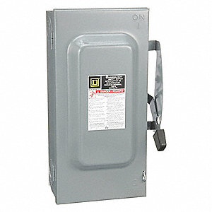 Safety Switch, 1 NEMA Enclosure Type, 100 Amps AC, 15 HP @ 240VAC HP