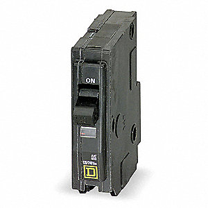 Plug In Circuit Breaker, QO, Number of Poles 1, 60 Amps, 120/240VAC, Standard