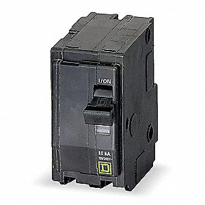 Plug In Circuit Breaker, QO, Number of Poles 2, 10 Amps, 120/240VAC, Standard