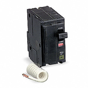 Plug In Circuit Breaker, QO, Number of Poles 2, 50 Amps, 120/240VAC, Switched Neutral
