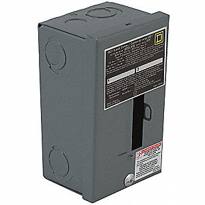 Load Center, Main Lug,30 Amps,120/240VAC Voltage,Number of Spaces: 2