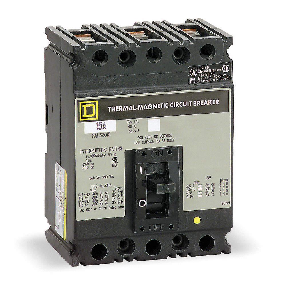 SQUARE D Circuit Breaker, 70 Amps, Number of Poles: 3, 600VAC AC ...